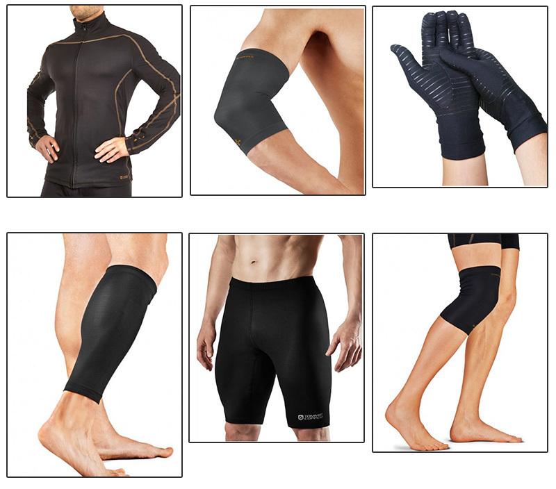 Copper nylon fabric compression sleeves1