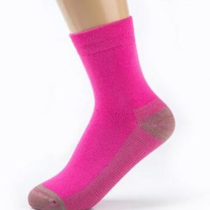 wholesale cotton knitted copper socks antimicrobial socks for women