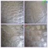 100% silver pyrographic fabric